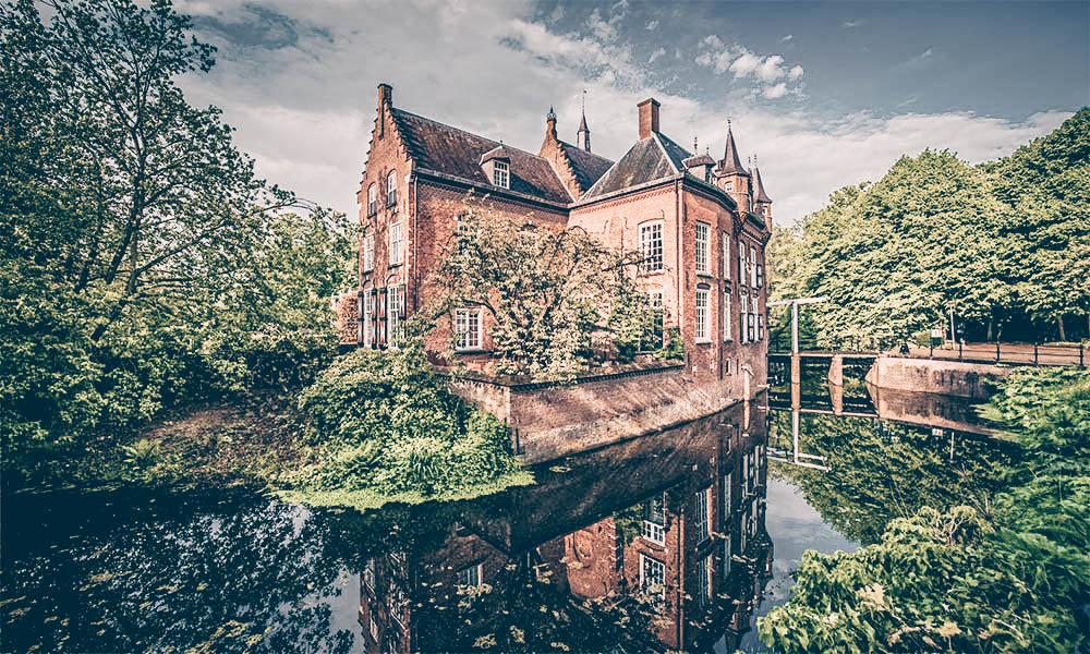 Solex rijden in Brabant Kasteel Maurick